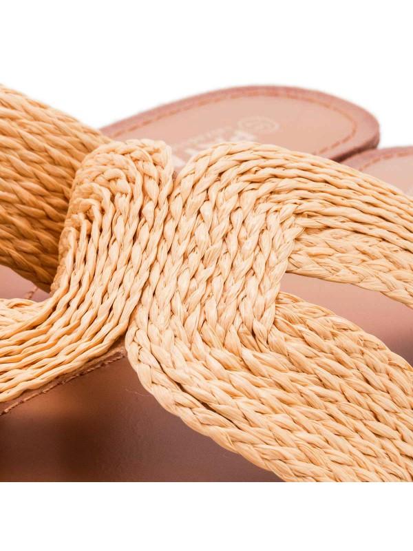 Sandalia de yute de varios colores