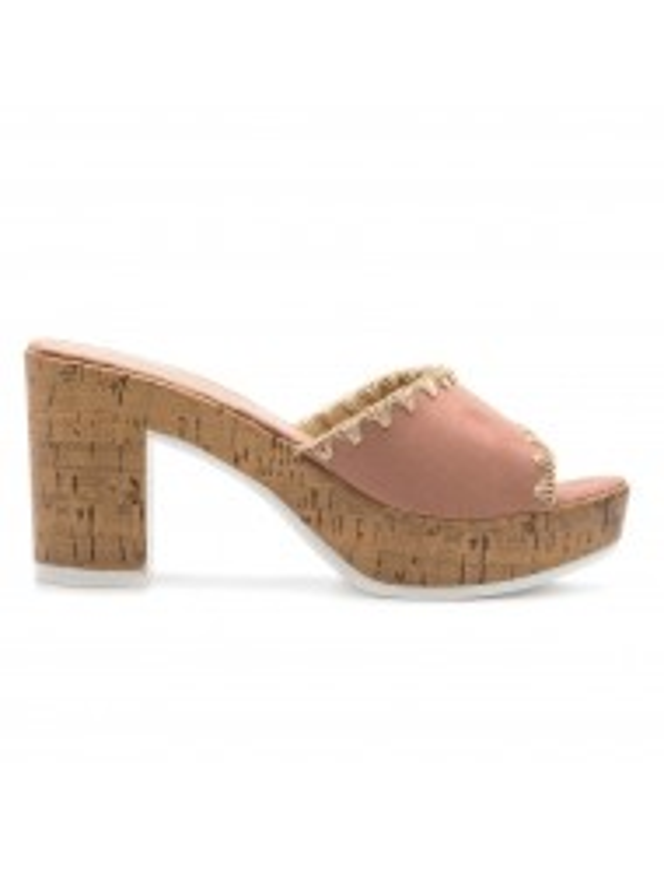 Sandalias de tacón con corcho, sandalias rosas, Sandalias de mujer con plataforma, sandalias de tacón baratas