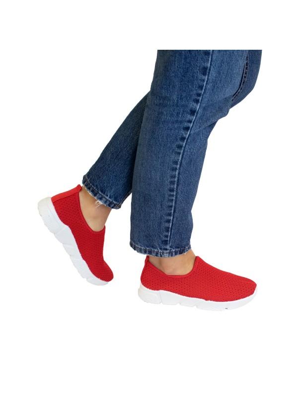 Deportivas de mujer rojas, deportivas de malla rojas, zapatillas rojas mujer, zapatillas deportivas baratas de mujer
