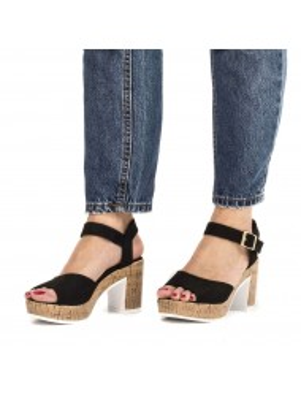Sandalia de piso de corcho