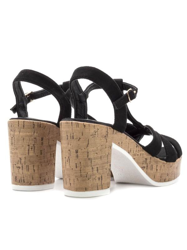 Sandalias con piso de corcho y pulsera al tobillo