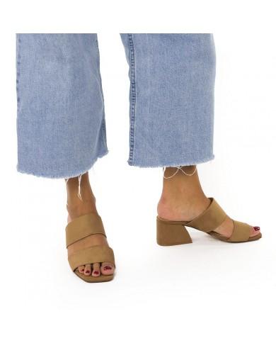 Sandalias con tacón ancho