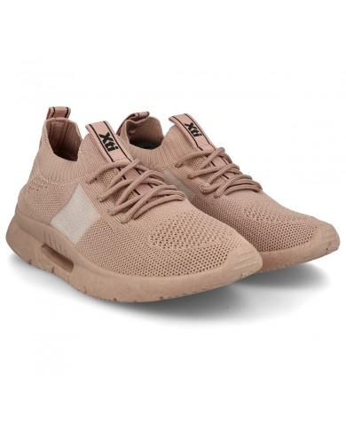 Deportivas elásticas de mujer rosa, deportivas rosa, zapatillas casual mujer, zapatillas deportivas baratas de mujer
