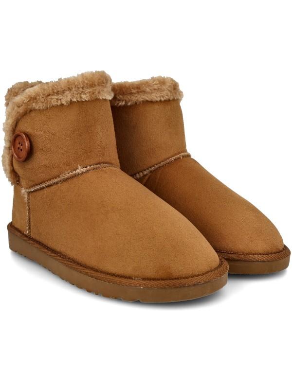 Bota australiana de mujer, bota australiana marrón, botín australiano de mujer camel