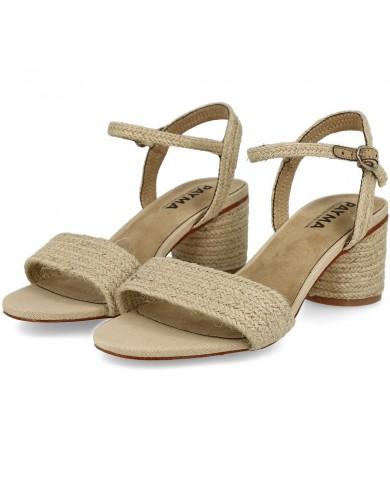 Sandalia de yute natural