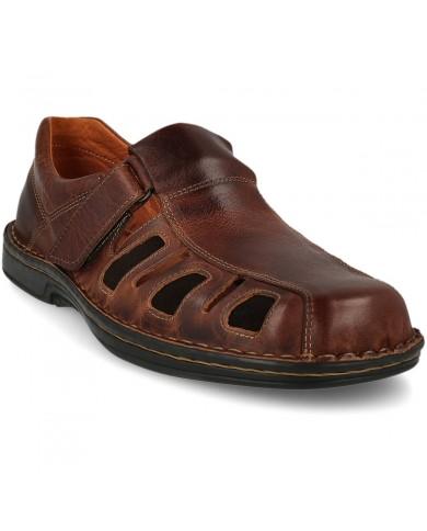zapato de verano de piel