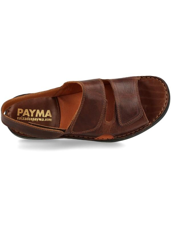 sandalias de piel cognac