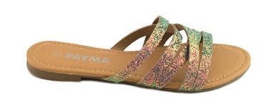 comprar sandalia plana brillo