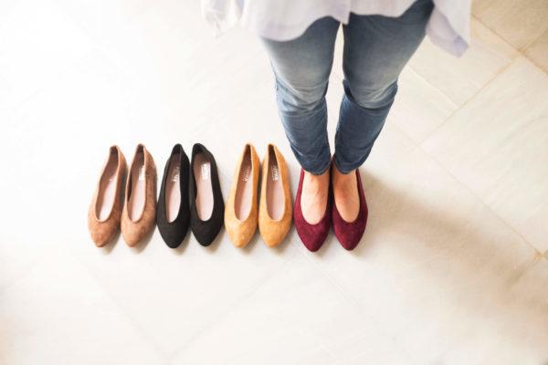 zapatos planos manoletina de colores