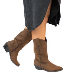 botas cowboy mujer marron