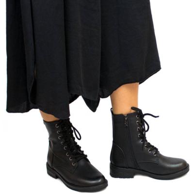 botin acordonado disfraz de halloween botin barato mujer bota militar