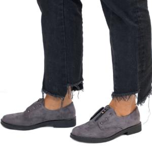 zapato plano mujer con cremallera en medio