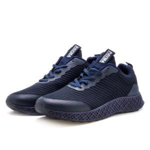 zapatillas deportivas hombre azules cordones